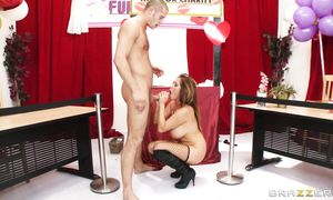 Attractive big titted housewife Kianna Dior is hungry for a large fat lever