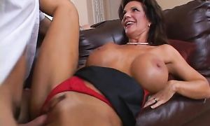 Aroused brown-haired Deauxma and playmate were eager to have sex while they were home alone