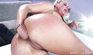 Staggering busty blond Phoenix Marie gets fucked by mate in