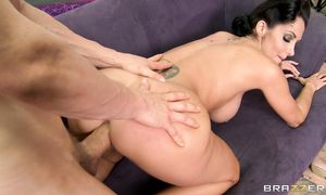 Carnal sweetie Ava Addams has a sweet and delicate fuck with her buddy