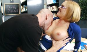 Fresh busty blond playgirl Krissy Lynn and fucker are doing it and enjoying it a lot