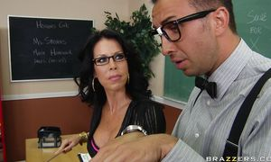 Glorious big breasted girlie Tabitha Stevens knows how to suck prick and make dude moan and sigh from pleasure