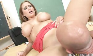 Glamor blond beauty Alanah Rae liked her 1st fuck with her playmate