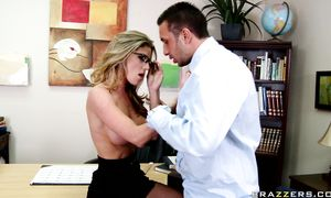 Enticing big boobed Kayla Paige is hungry for penis