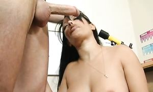 Prodigious busty housewife Mason Storm is incredible and reaches a massive large o