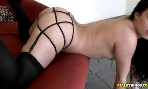 Delicious latin floosy Coco Valentina with huge tits gets her wet copher smashed by lover