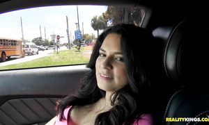 Curvaceous latin darling Amy Lopez with attractive tits gets plowed for all she's worth