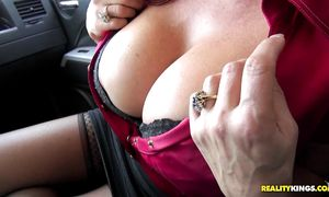 Sultry big boobed latina Vanessa Bella and horny male bang like crazy