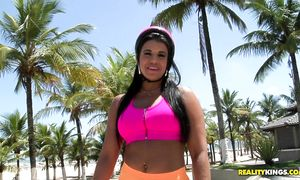 Between cheerful wazoo perfection Aline Rios and pal sex is always electrifying