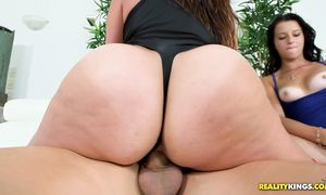 Elegant brown-haired girlfriend Mallory Madison with great tits receives phallus and is definitely not sorry