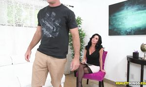 Sassy busty bitch Veronica Avluv hooked up with bf who just moved into her neighbourhood just for fun
