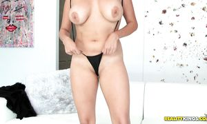 Stupendous latin bombshell Missy Martinez with curvy bumpers cum while being drilled hard