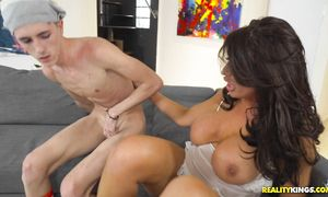 Sinful hotty Ava Koxxx with round tits and pal are about to have steamy sex all day long