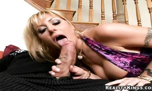 Horny blond minx Velicity Von with great tits got her daily dose of steamy fuck