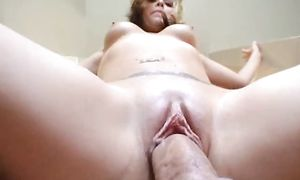 Out of this world magnificent busty blond Mandy fucks like a pro