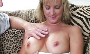 Swingeing breasty brown-haired Chayanne is eagerly impaled on a hard dick