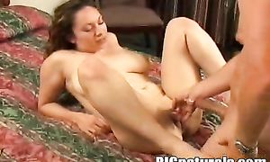 Nasty latin enJoyment with round tits craves for donga