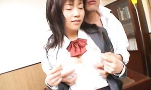 Slutty Akane Hotaru with giant tits groans while being fucked