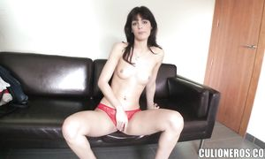 Tasty breasty Carol Vega sits on hard fuck stick