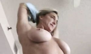 Seductive blond diva Kendall with great tits is receiving his biggest hard stick