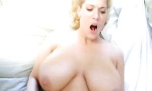 Topnotch busty blonde Jasmine gets a huge electrifying large o