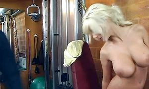 Startling busty Puma Swede gets ready for a irrumation