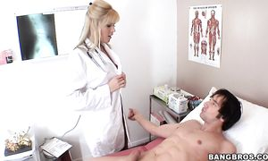 Pungent golden-haired Darcy Tyler with firm natural tits yearns for a strong agonorgasmos