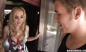 Filthy golden-haired Tanya Tate with round tits is horny and always ready for some act