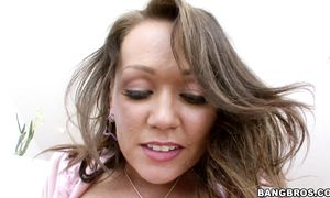Excellent Chloe Reese Carter with curvy natural tits is about to fuck pussy tester
