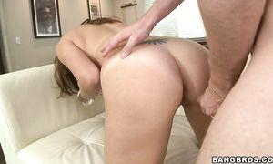Attractive latin floosy Lisa with curvy tits loves to get actually nasty and suck hard one-eyed monster