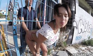 Lustful latin maid Franceska Jaimes with big tits is group-fucked by a brutal fuckmate