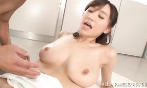 Charming bosomed Ki Hanyuu gets a fat cock up her poontang