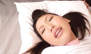 Beguiling big boobed girlie Ai Sayama loves to give hot sensual blowjbs to boys