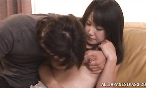 Playsome big titted darling Marie Kimura gets crazy fucked