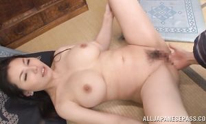 Sophia Takigawa with firm tits is a enticing floozy that likes sex