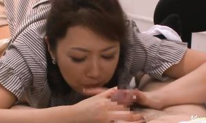 Sinful lady Risa Kasumi with big mambos has been yearning for sex