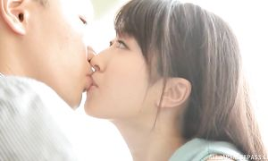 Beautiful big boobed Arisa Misato rides a giant prick