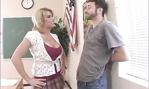 Phallus loving beautiful busty blond Brooke Haven got fucked in the putz while she was rubbing her quim