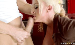 Worshipped busty blond perfection Leya Falcon getting her pal off perfectly