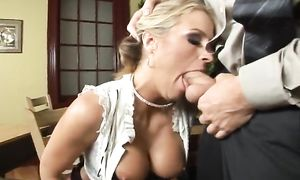 Lovable Brooke Belle with great tits gets her juice fanny plowed by a horny lad