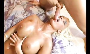 Angelic breasty diva Lichelle Marie has a sexual experience where she orgasms