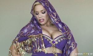Lusty big boobed blond maid Shyla Stylez is sharing a rock hard dinky while having a steamy session