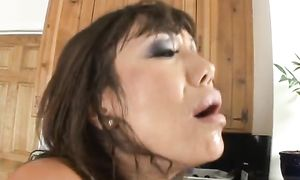 Striking oriental maiden Ava Devine with large tits loves getting handled by a real pal