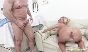 Amazing blond darling Tasha Reign with impressive tits loves her dude's foreplay arousal techniques