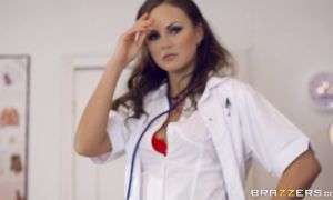 Glorious brown-haired Tina Kay screwed by her stranger's pulsating stick