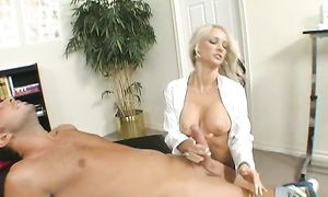 Fresh Synthia Fixx with impressive tits decided to give a nice blow job to mate