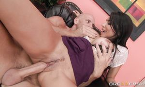 Prurient latin Lela Star with huge tits has vehement fuck session