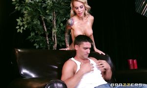 Succulent big breasted Sarah Jessie getting hammered up with desire