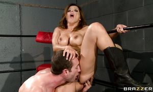 Lusty brown-haired Francesca Le eager to be lever annihilated
