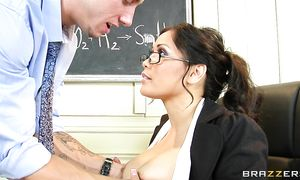 Lovely breasty brown-haired woman Jessica Bangkok with wet poon tang is adorable and hot